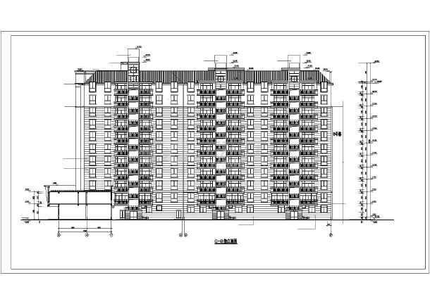 某小区高层住宅楼建筑cad施工图(全套)-图1