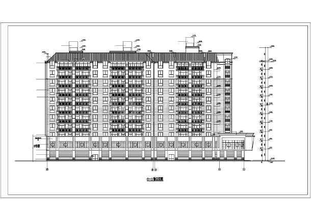某小区高层住宅楼建筑cad施工图(全套)-图2