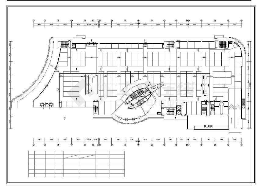 某地商场建筑设计图(共5张)-图1
