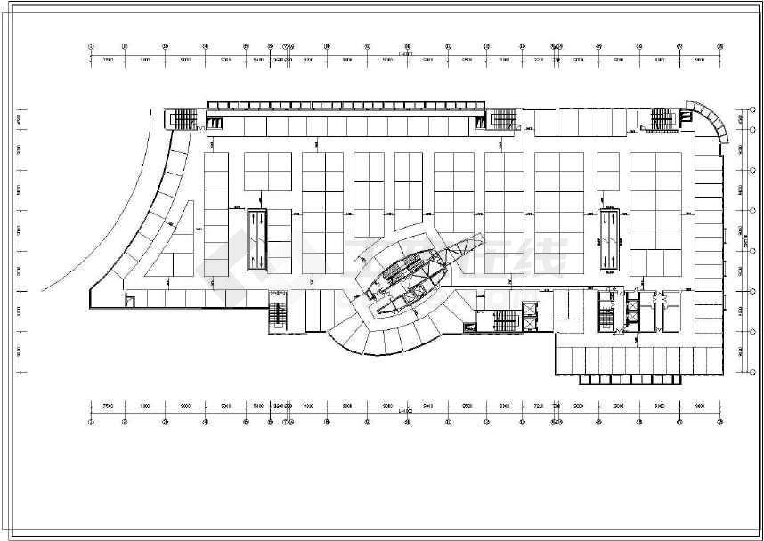 某地商场建筑设计图(共5张)-图2