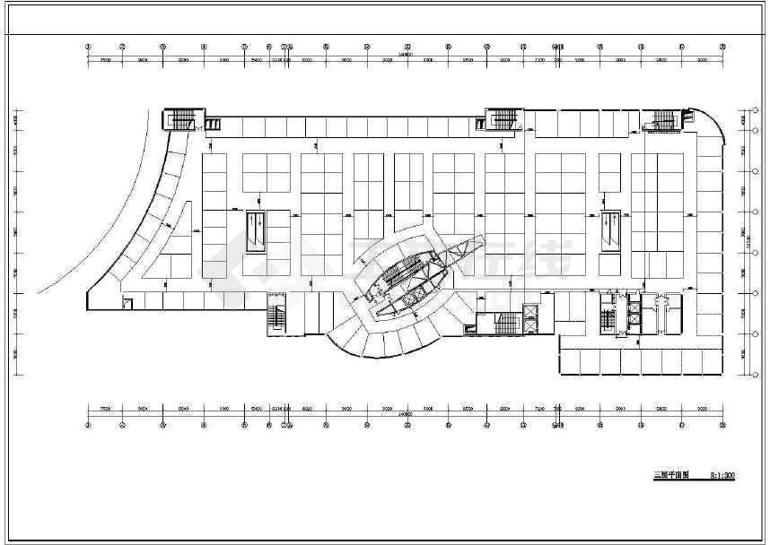 某地商场建筑设计图(共5张)-图3