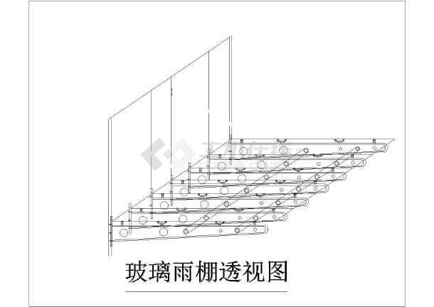 幕墙大雨棚设计详图-图2