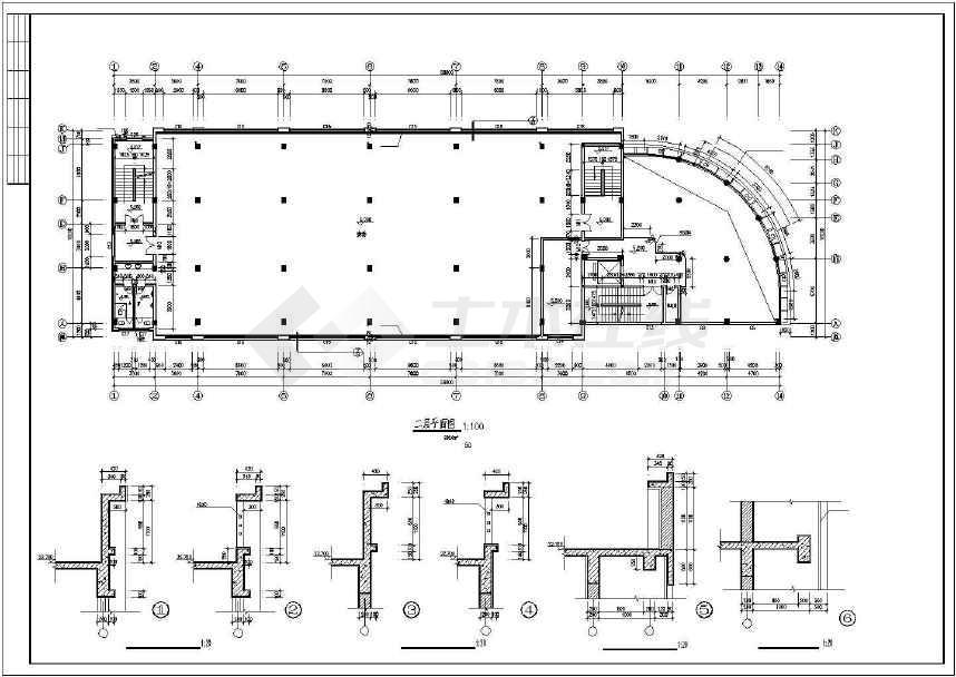 某地综合性商业建筑施工图-图3