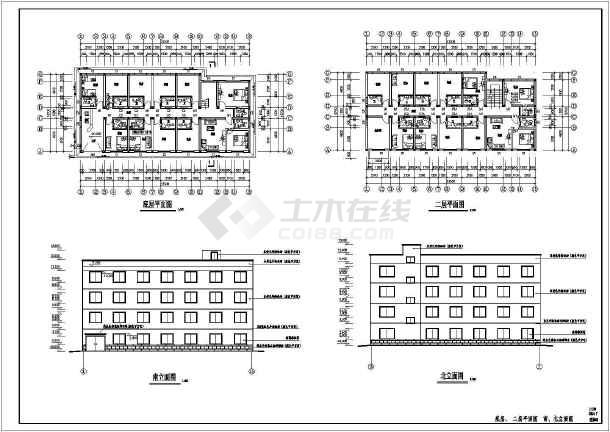 某地单身公寓建筑结构施工图(共11张)-图1