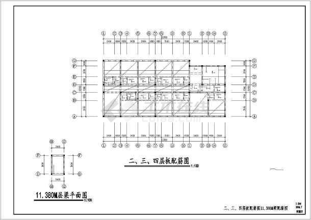 某地单身公寓建筑结构施工图(共11张)-图2