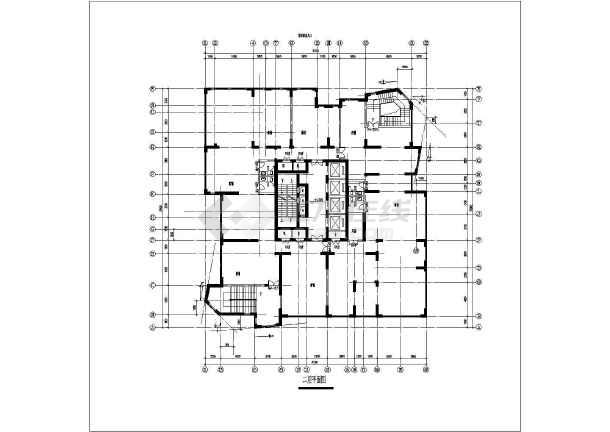 某地高层点式住宅楼建筑设计图-图1