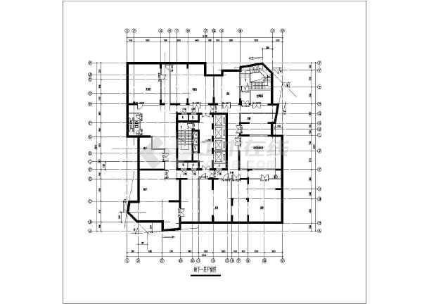 某地高层点式住宅楼建筑设计图-图3