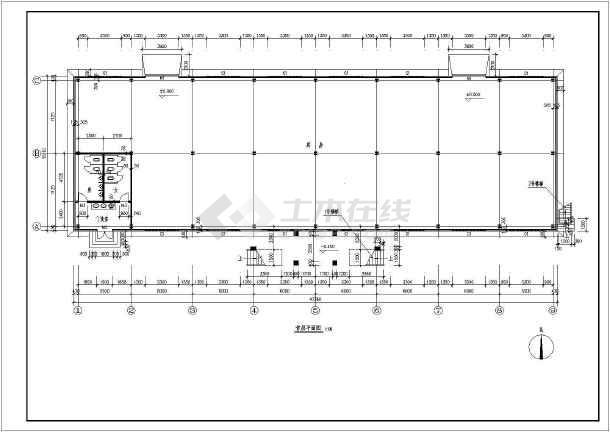 某食堂钢结构建筑图-图2