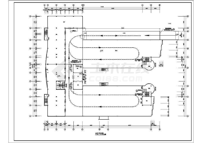 某地简单商场建筑设计方案图-图1
