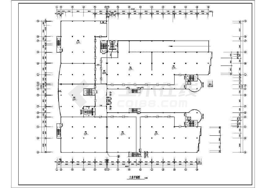 某地简单商场建筑设计方案图-图3