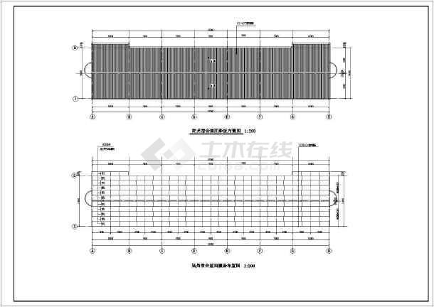 某地某框架宿舍楼建筑结构cad设计图-图2
