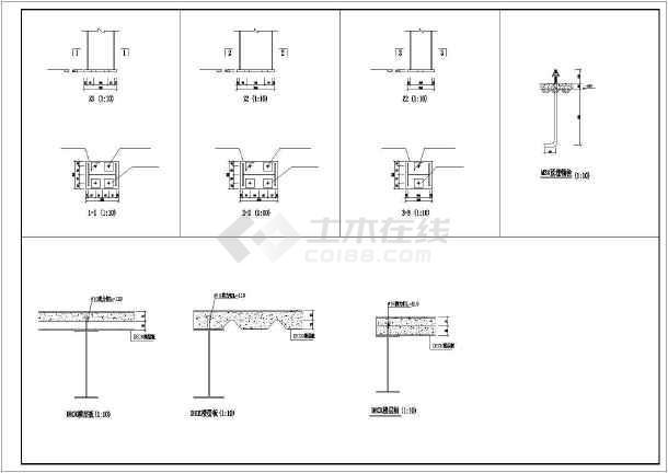 某地某框架宿舍楼建筑结构cad设计图-图3
