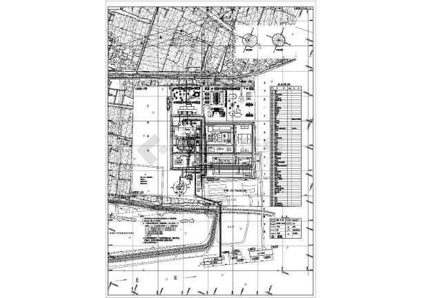 某电厂规划设计总平面布置图-图1