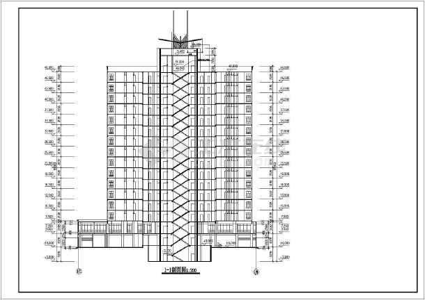28套高层住宅楼建筑CAD图纸(整合套装)-图2
