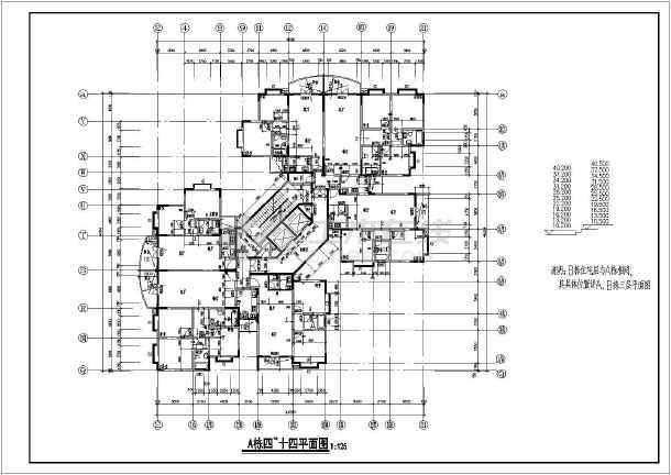 28套高层住宅楼建筑CAD图纸(整合套装)-图3