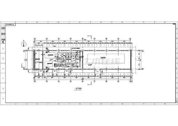 某钢结构厂房平立剖面图-图1