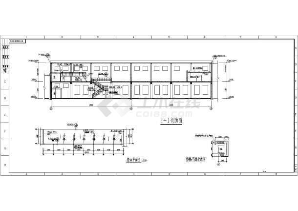 某钢结构厂房平立剖面图-图3