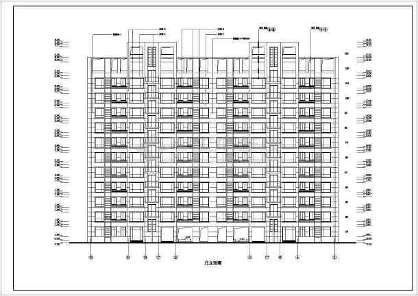 某地区某高层住宅楼建筑施工图(共8张)-图1