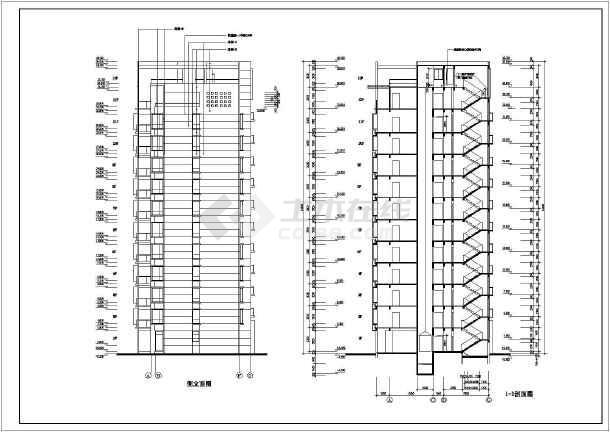 某地区某高层住宅楼建筑施工图(共8张)-图2