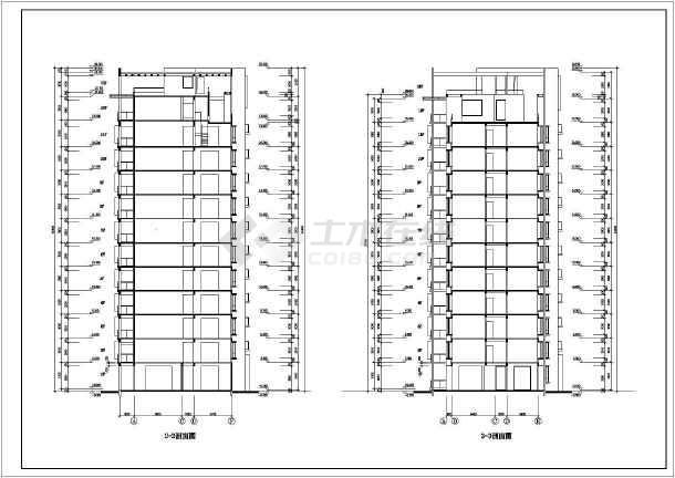某地区某高层住宅楼建筑施工图(共8张)-图3