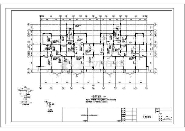 某高层剪力墙结构住宅楼cad施工工程设计图-图1