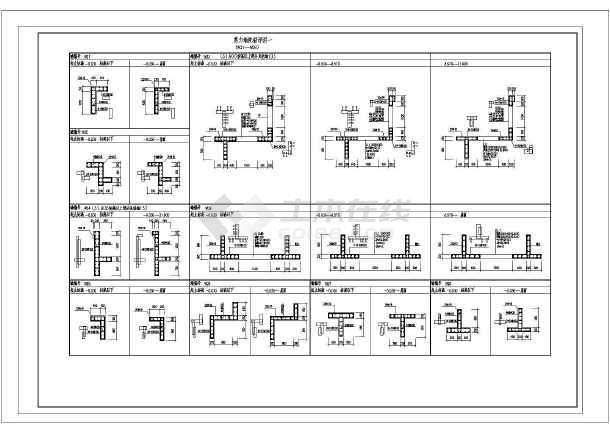 某高层剪力墙结构住宅楼cad施工工程设计图-图2
