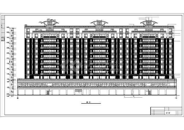 某地某单位高层住宅楼建筑设计图(全套)-图1