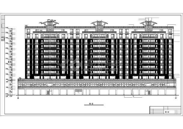 某地某单位高层住宅楼建筑设计图(全套)-图2