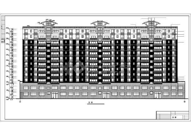 某地某单位高层住宅楼建筑设计图(全套)-图3