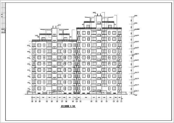 某市花园式高层住宅建筑cad施工图(共17张)-图1