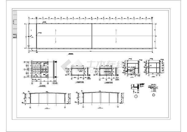 某钢结构厂房建筑图纸-图1