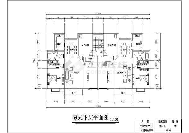 某小区住宅户型建筑设计方案图-图1