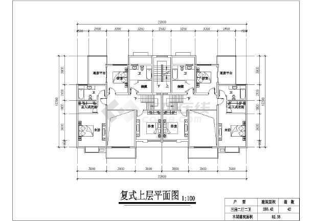 某小区住宅户型建筑设计方案图-图3