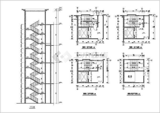 某酒店建筑cad施工图-图2