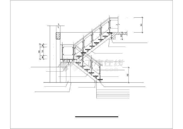 钢楼梯设计详图-图2