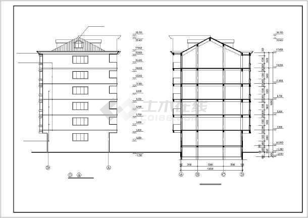 某市区多层住宅楼建筑施工图(共12张)-图2