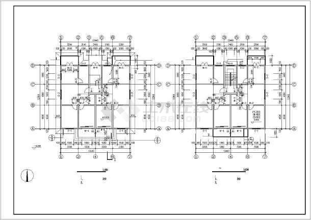 某地某个多层住宅建筑设计图(共5张)-图3