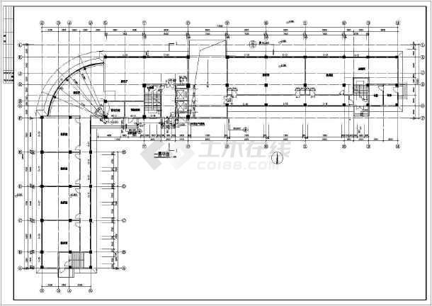 某地区六层底商住宅楼建筑cad图纸-图2