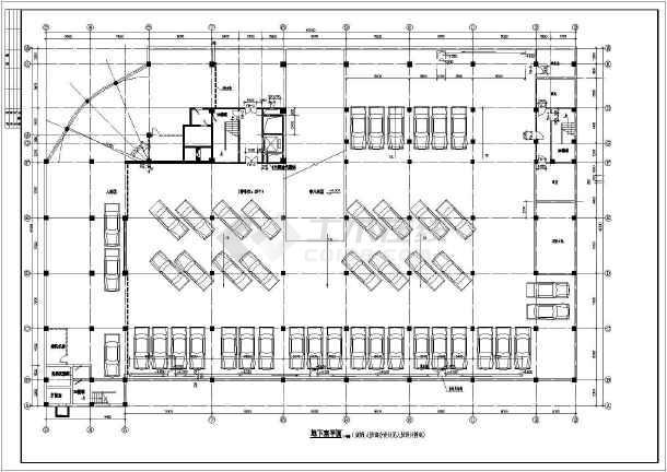 某地区六层底商住宅楼建筑cad图纸-图3