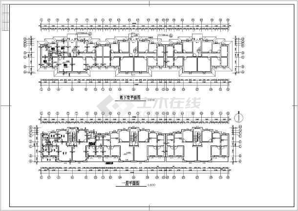 某多层小区住宅楼建筑设计图(共5张)-图1