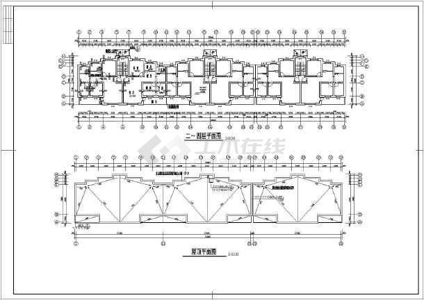 某多层小区住宅楼建筑设计图(共5张)-图3