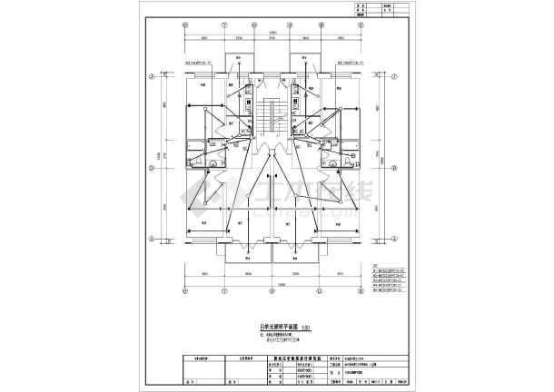 一套住宅楼电气cad施工图(共9张)-图1
