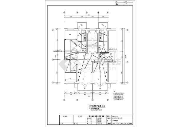 一套住宅楼电气cad施工图(共9张)-图2