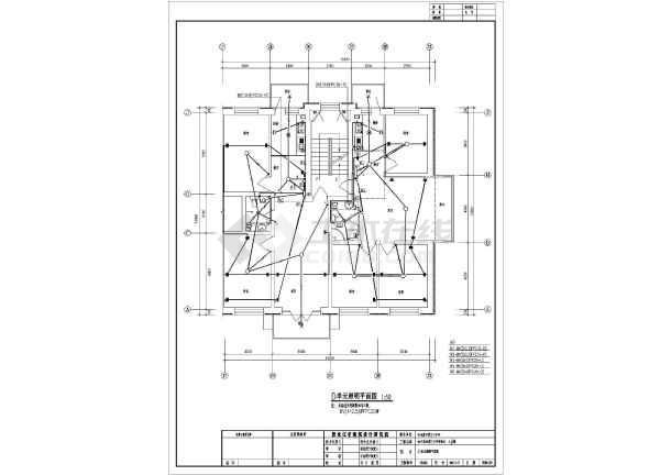 一套住宅楼电气cad施工图(共9张)-图3