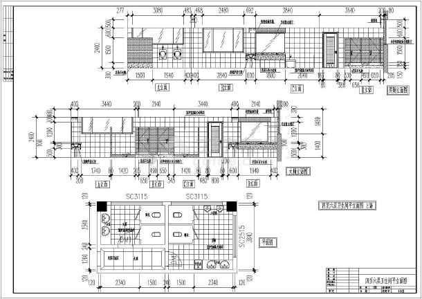 某地区六层电信大楼建筑cad设计图纸(共6张)-图1