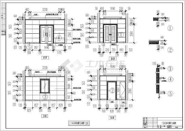 某地区六层电信大楼建筑cad设计图纸(共6张)-图2