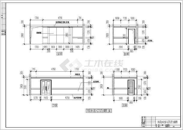 某地区六层电信大楼建筑cad设计图纸(共6张)-图3