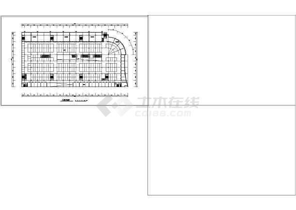 某市场建筑方案设计图-图1