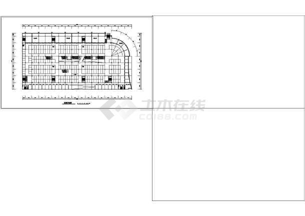 某市场建筑方案设计图-图3