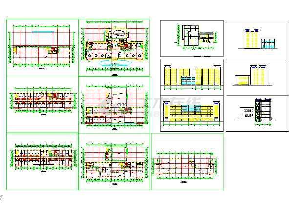 某地六层宾馆建筑cad设计图纸(节点详细)-图1